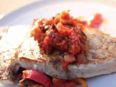 Barefoot in la barefoot contessa food network ina barefoot swordfish provencal recipe from ina garten via food network serve with quinoa tabbouleh with feta forumfinder Choice Image