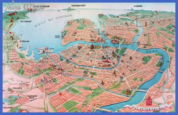 Cool St Petersburg Map Tourist Attractions Tours Maps Pinterest