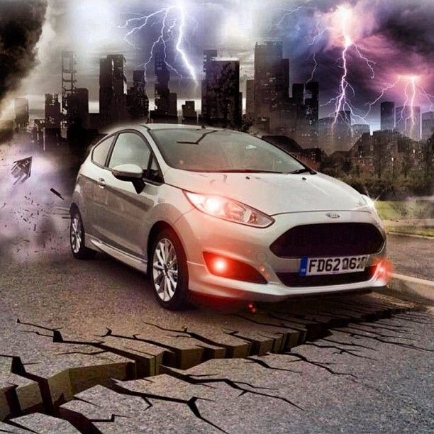 Here S A Picture Of Trevor Hickling S Ford Fiesta Zetecs That He S Been Busy Editing In Photoshop It S Called Taking The Roa Instagram Ford Harrison Ford