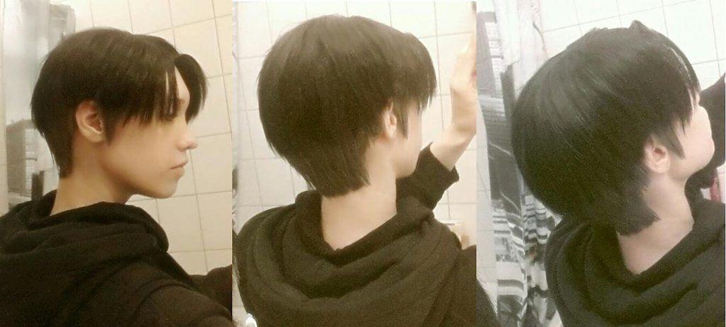 Resultado de imagem para levi ackerman haircut in real life
