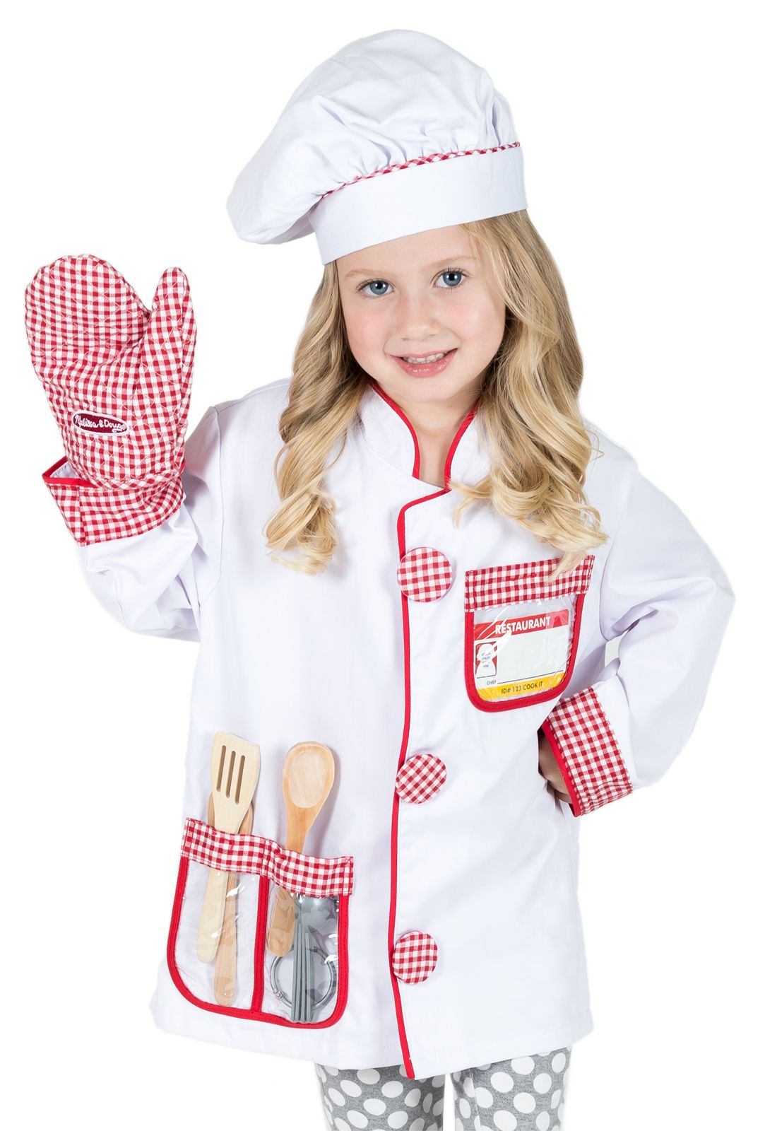 Boys Girls Childrens Chef Cook Fancy Dress Costume Role Play Book Day Outfit