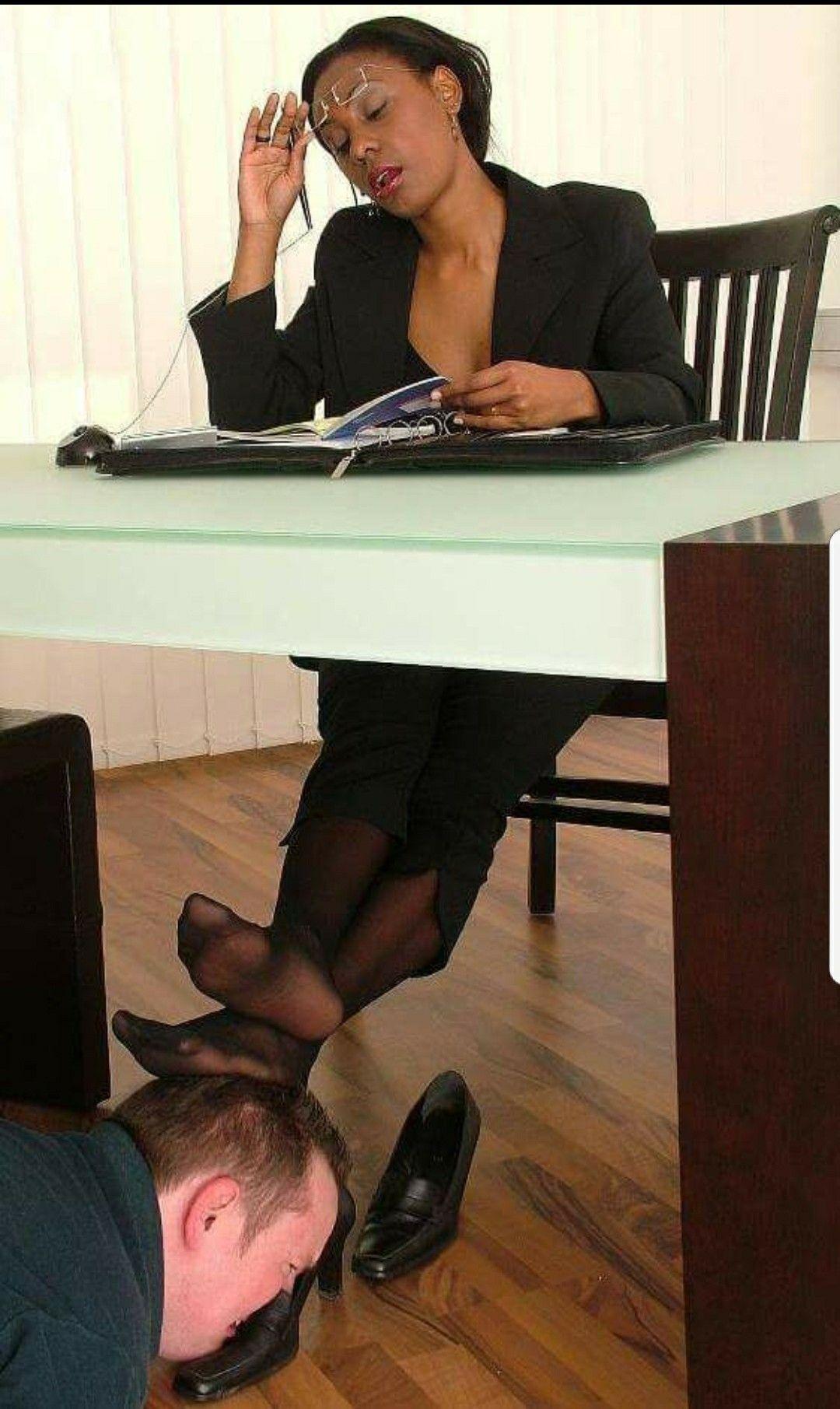 Feet Lesbian Under Table
