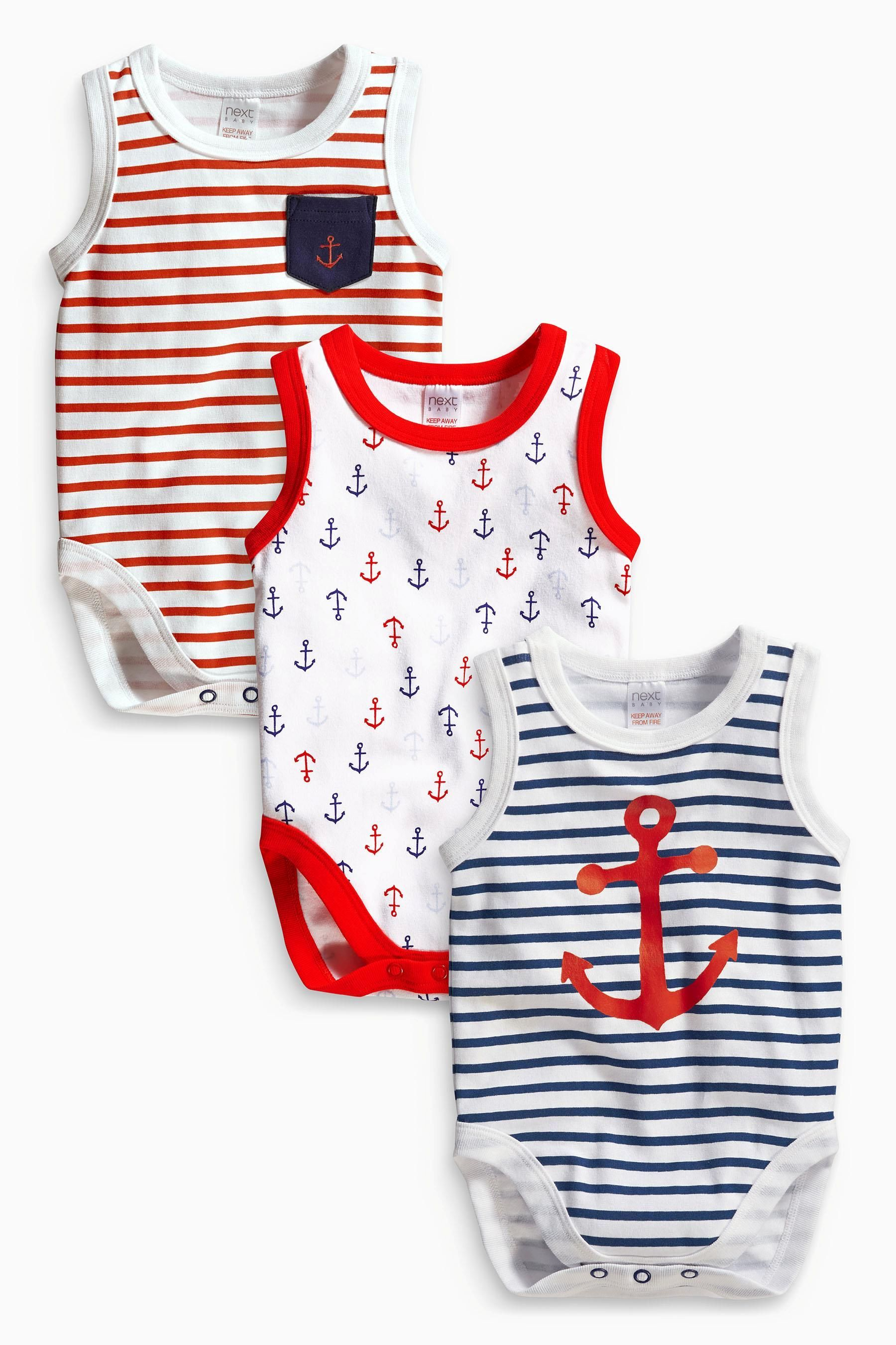 Buy Three Pack Anchor Vests 0mths 2yrs from the Next UK online