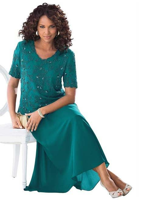 Plus Size Short Sleeve Dark Jade Mother Of The Bride Dresses Under