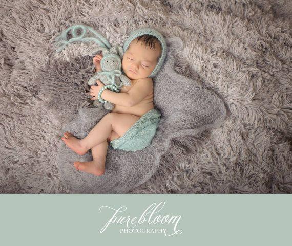 Neugeborene Foto Prop Bunny  Haube von
