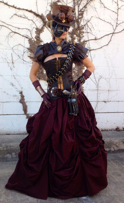 Ladies Steampunk Fashion Attire, Quality Steampunk Corsets, Leather Steampunk Corset Top Hats, Steampunk Jewelry & Weapons