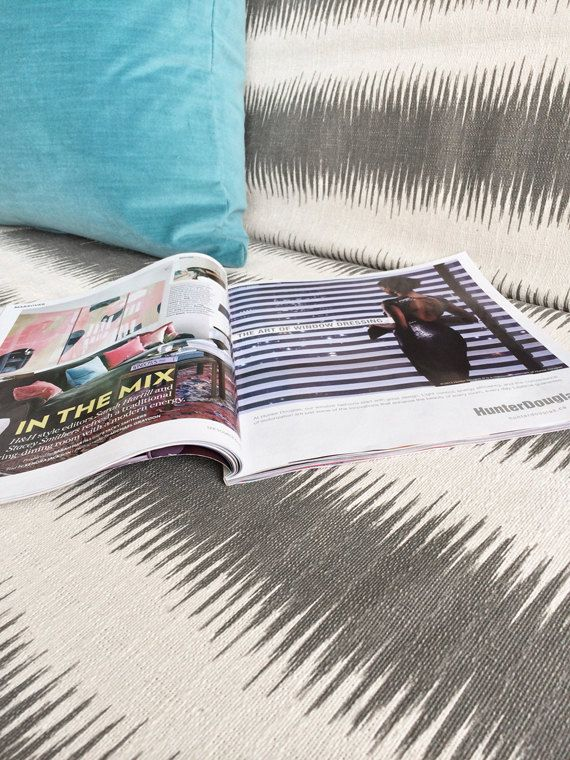 Tribal High Quality Futon Mattress Cover Gray Natural Ikat Stripe Print Office Decor Made In Canada 120 00