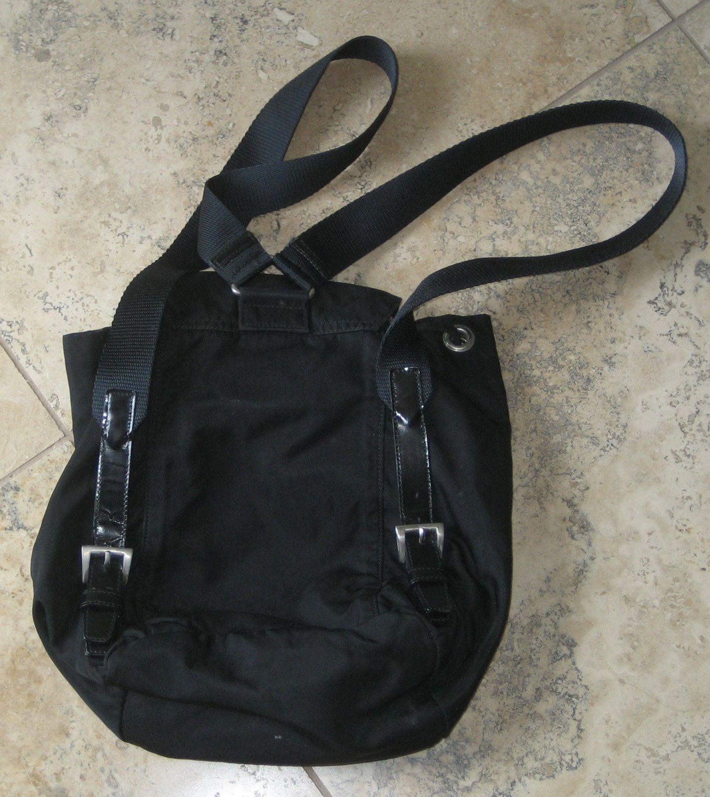Black prada nylon backpack style purse prada milano made in italy 230 0