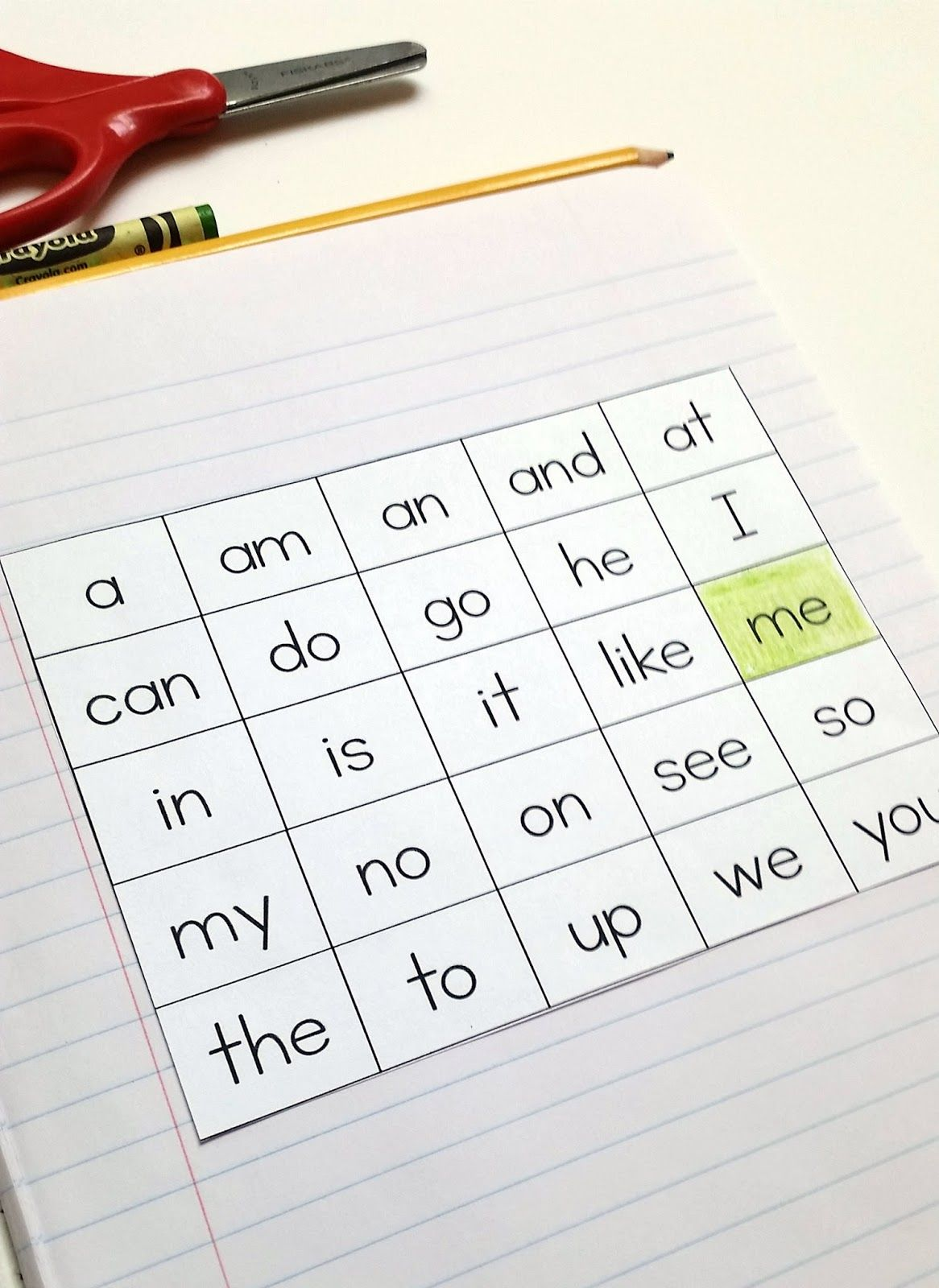Kinder Garden: Interactive Sight Word Notebook, Sight Words In