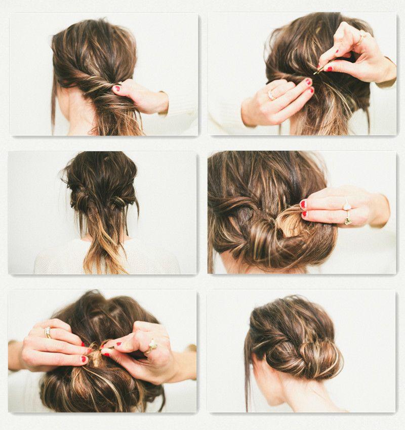 Twisted Updo Hair Style Tutorial Echthaar Extensions Frisur Hochgesteckt Steckfrisuren Fur Schulterlanges Haar
