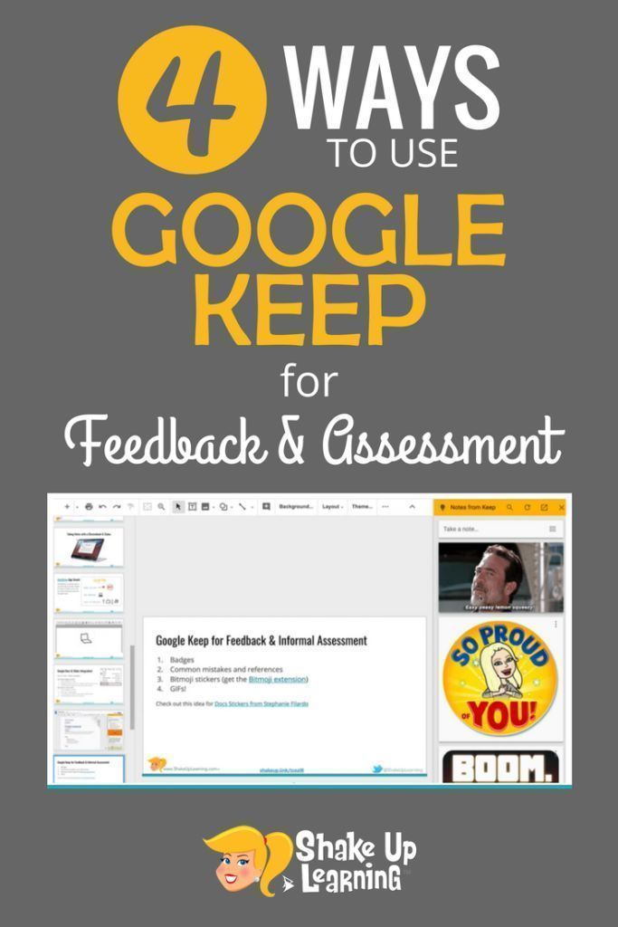 4 Ways to Use Google Keep for Feedback and Assessment - Classroom technology -