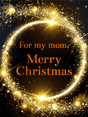 Shining Lights Merry Christmas Card for Mother | Birthday & Greeting Cards by Davia | Christmas ...