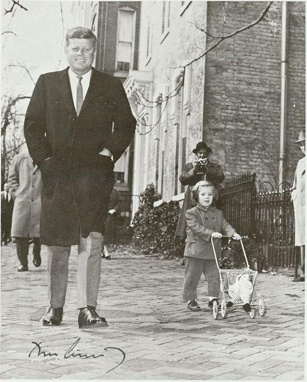 Caroline Kennedy with her Raggedy Ann