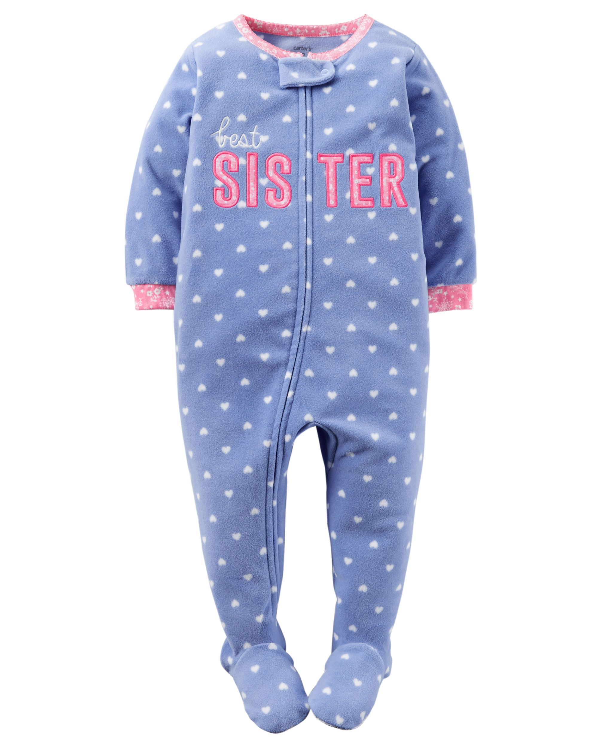 1efe5f1e4 Keep little sister snug all night in these cozy pjs.