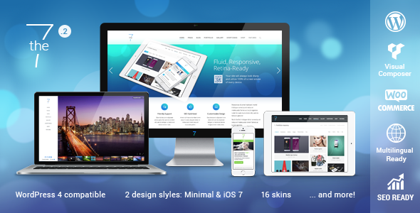 The7 — Multi-Purpose Website Building Toolkit for WordPress | WordPress  theme, WordPress theme responsive, Premium wordpress themes