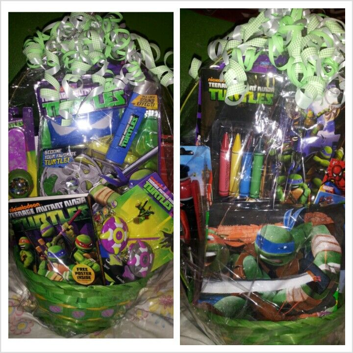 This year i decided to get creative and make a ninja turtles this year i decided to get creative and make a ninja turtles easter basket for my nephewgodson negle Choice Image