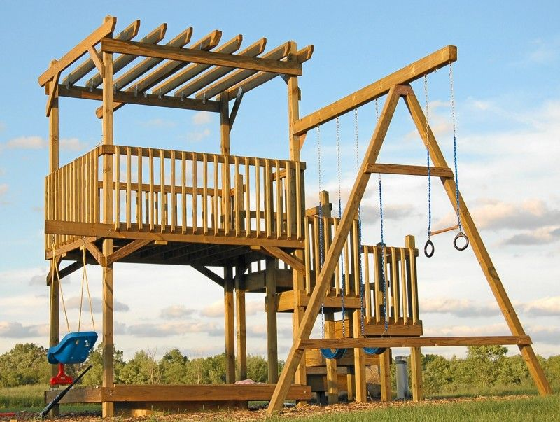 How to Build a Backyard Play Structure / Fort   How Did I ...