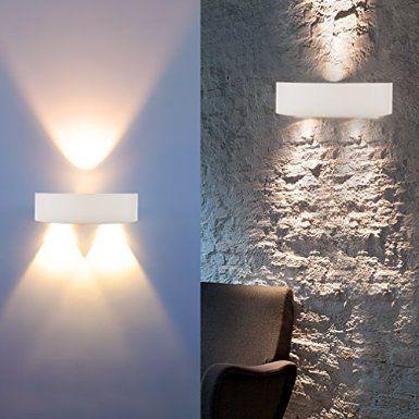 Auralum haute qualit 3w 300lm led applique murale interieur lampe de mur blanc chaud 2800 for Applique murale interieure