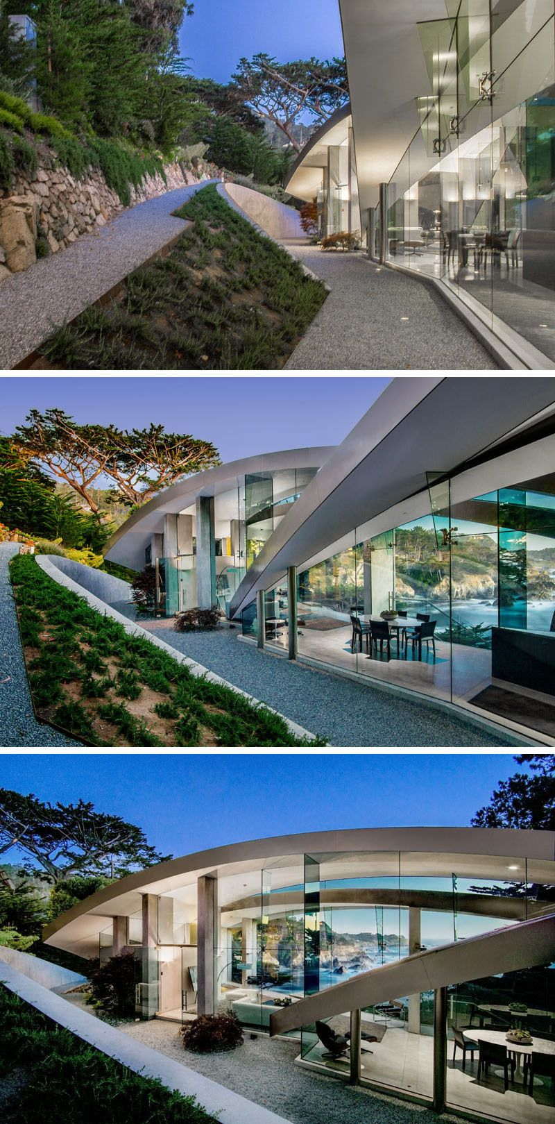 Casa Wallace Sculptural House With Stainless Steel Concrete Glass Architect