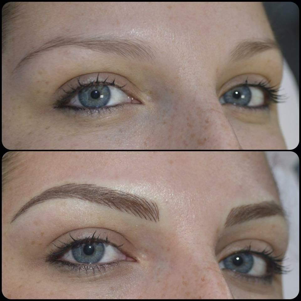 Image result for microblading brows blonde | Eyebrows ...
