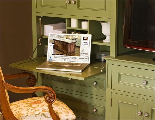 Hidden Desks corral chaos: space-saving kitchen products - hidden desk and