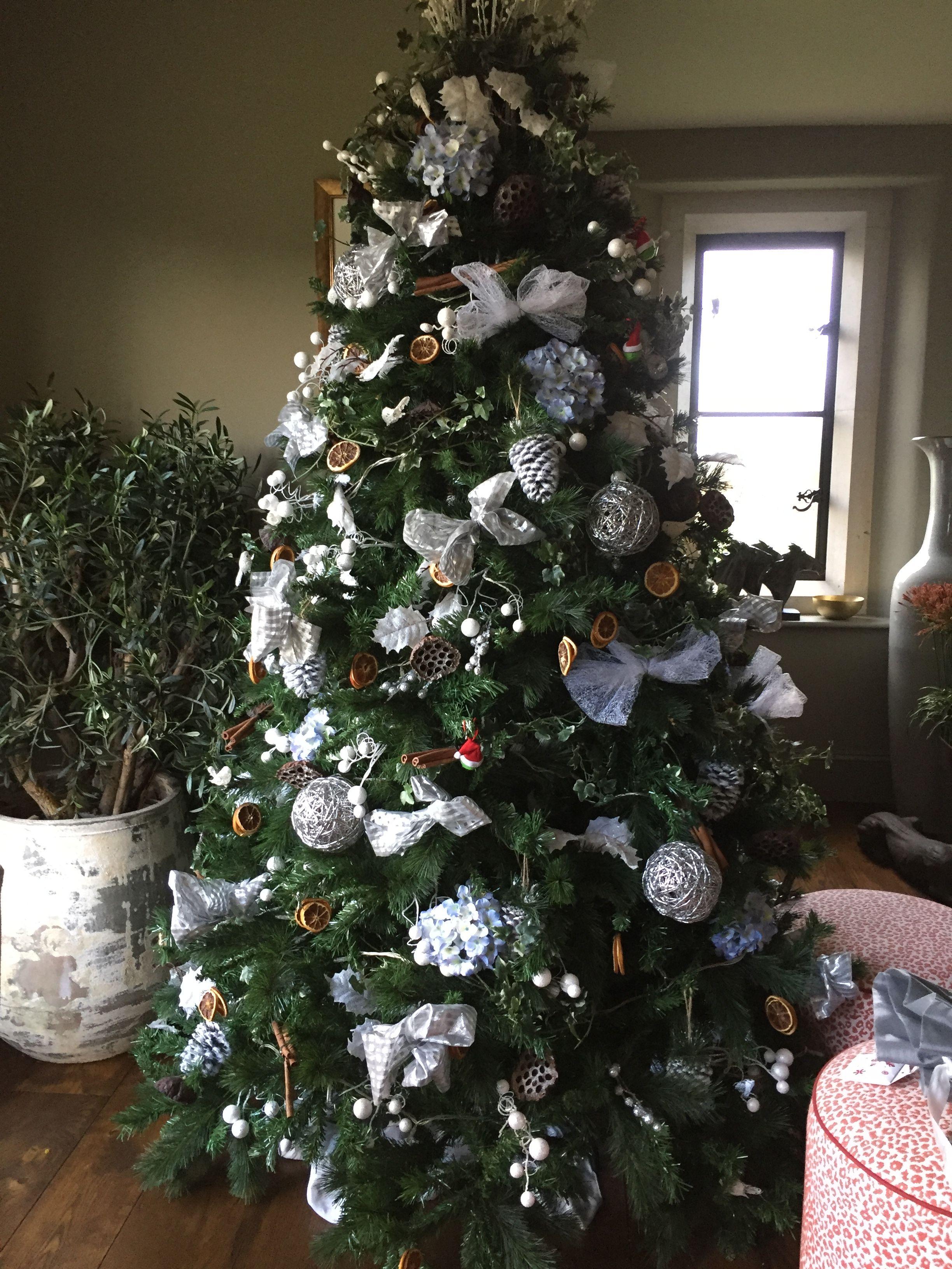 Whites And Orange Slices Christmas Tree By Www Anyabankschristmasdecorator Co Uk Holiday Decor Christmas Tree Christmas Decorations