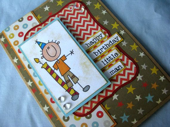 Little Boy Birthday Card Boy Card First Birthday Card Handmade
