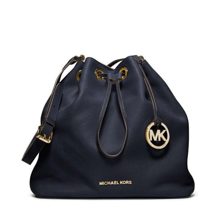 73334c830d8 MICHAEL Michael Kors Jules Large Drawstring Shoulder Bag Navy Blue ...
