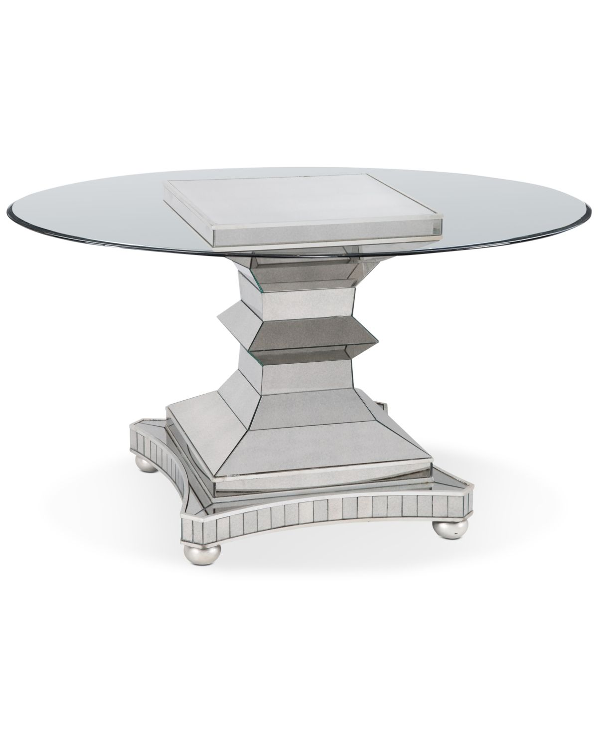 Moiselle 54 Round Dining Table Antique Mirror Glass 60 Round Dining Table Round Dining Table