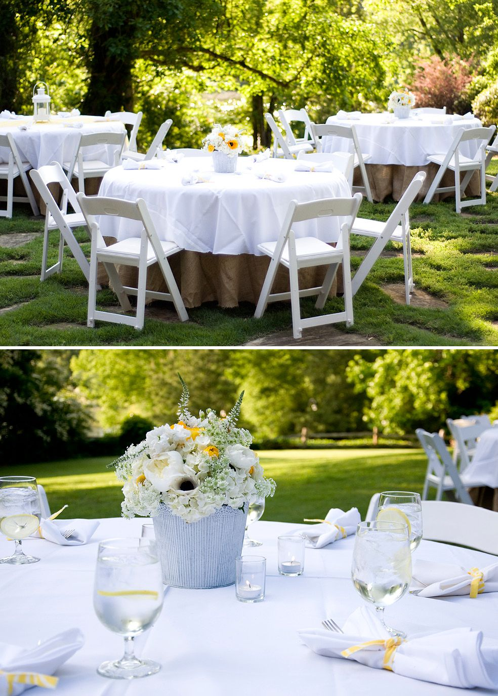 Outdoor Engagement Party Backyard Engagement Parties Engagement Party Table Setting