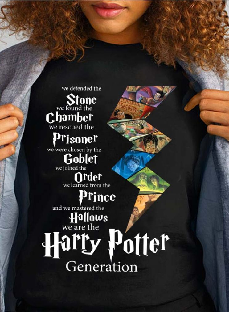 Harry Potter Generation We Defended The Stone We Found The Chamber Shirt Hoodie And Sweater Harry Potter Merch Harry Potter Shirts Harry Potter Spells