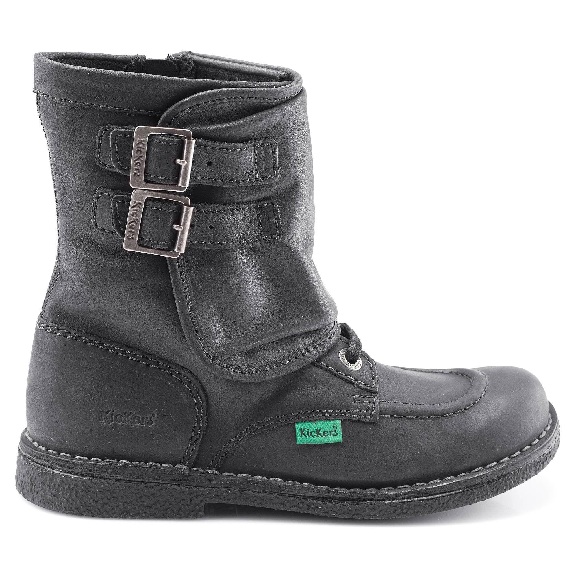 Kickers BOOTS OXFORDCHIC NOIR - Livraison Gratuite avec  - Chaussures Boot Femme