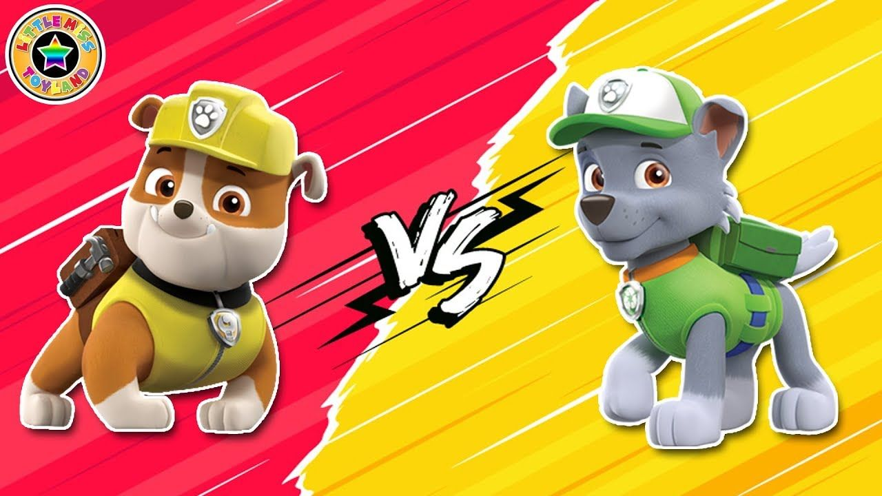 paw patrol rocky and rubble go bowling  paw patrol games