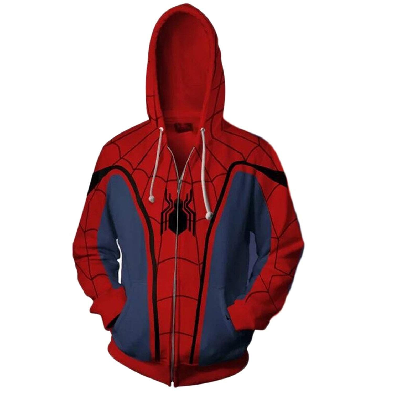 Koveinc Superhero Halloween Cosplay Costume Mens Hoodie Jacket To See Additionally For This Item Go To T Marvel Clothes Spiderman Hoodie Hoodie Jacket Men [ 1499 x 1500 Pixel ]