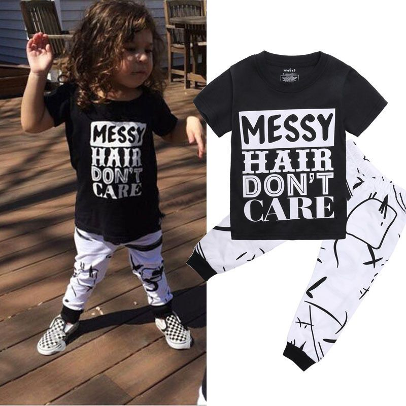 8709a1a03e Details about 2PCS Toddler Kids Baby Girls Outfit T-shirt Tops+Long ...
