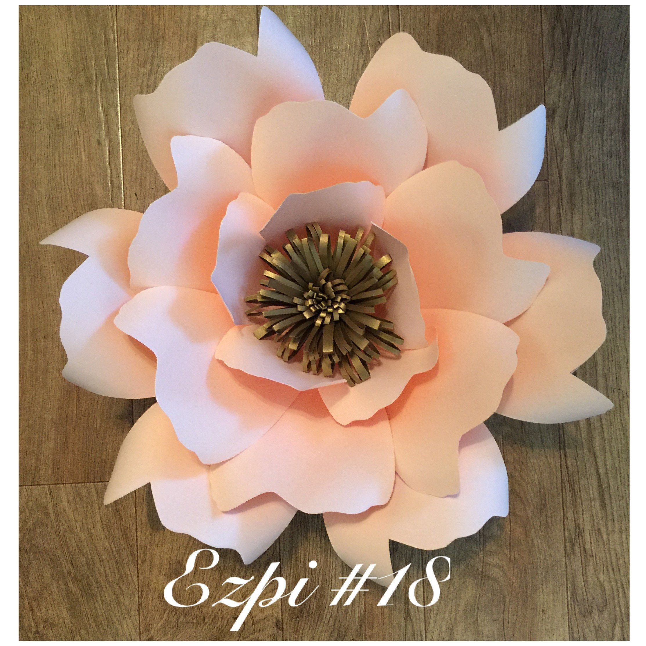 Paper Flower Template 18 Template Flower And Crepe Paper Flowers