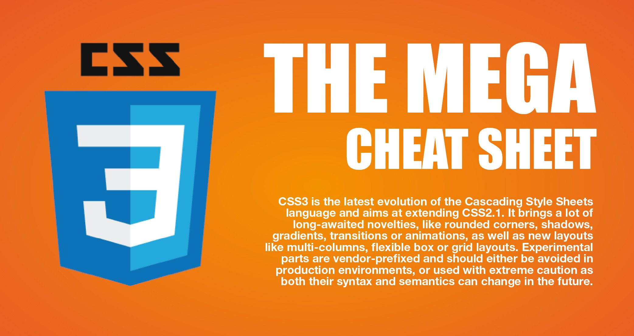 The Mega Css3 Cheat Sheet Infographic Css Cheat Sheet Cheat