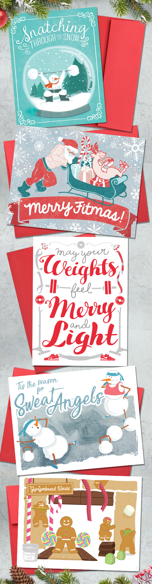 Crossfit Christmas Gift Ideas Holiday Greeting Cards For Coaches