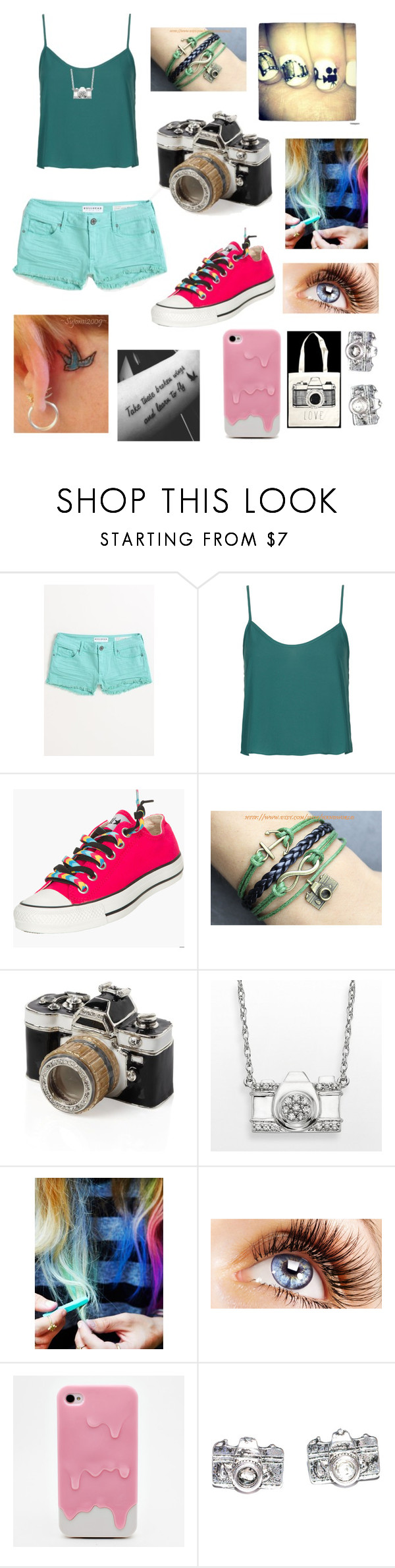 """""""photography"""" by talkturnsintoair ❤ liked on Polyvore featuring Bullhead Denim Co., Topshop, Converse, Zooey, Free People, Case-Mate, women's clothing, women's fashion, women and female"""
