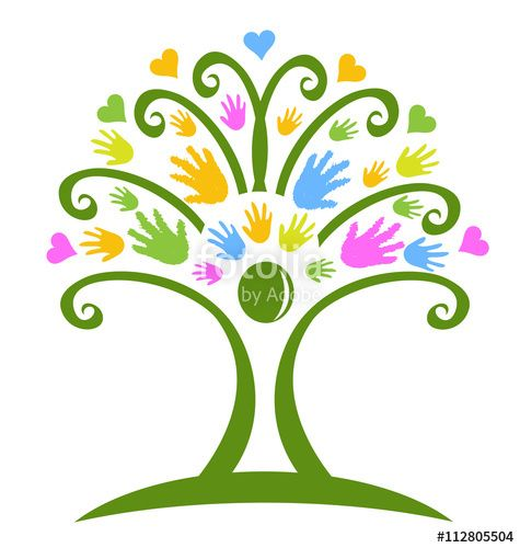 vector tree hands childcare symbol logo vector tree pinterest rh pinterest ca childcare clipart images Childcare Provider