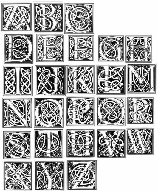Celtic Alphabet The Art Of The Letter Pinterest