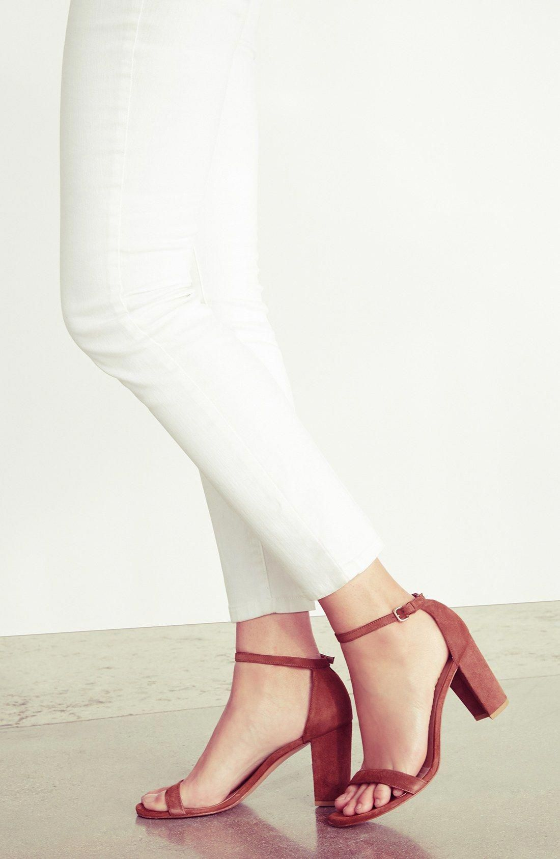 d9bb7431861a Stuart Weitzman  NearlyNude  Ankle Strap Sandal (Women)  StuartWeitzman