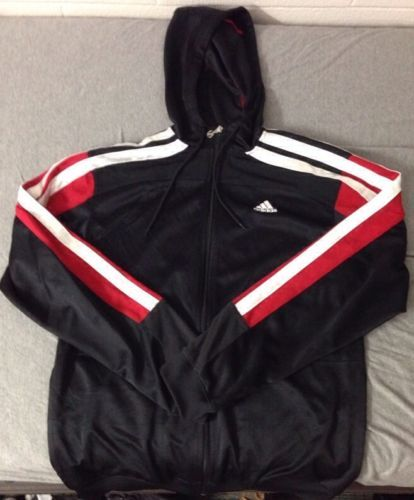 info for ae45f ac460 Mens Adidas Climacool Hoodie Size M Medium Black Red White ...