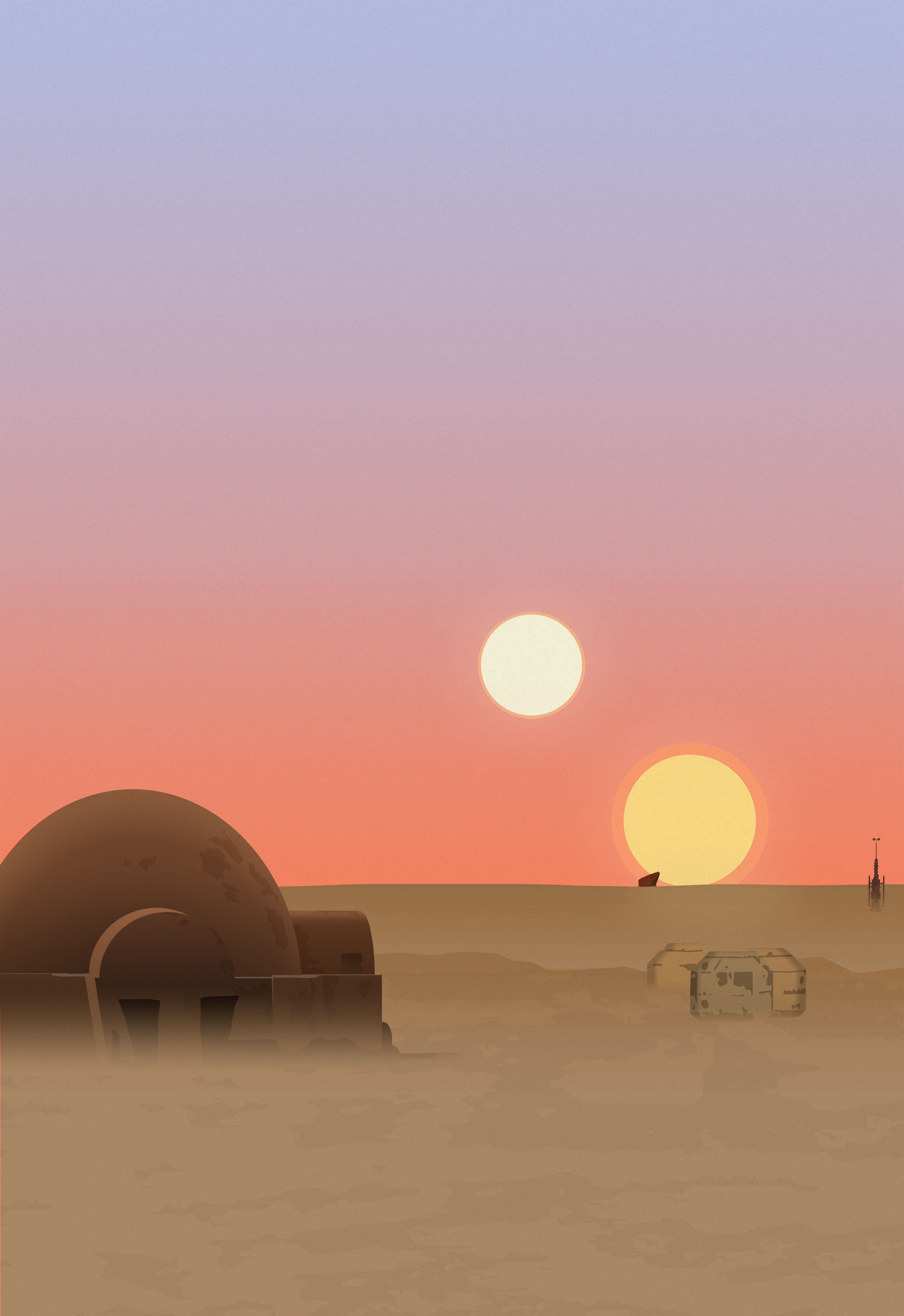 Star Wars Landscape Wallpaper Star Wars Painting Star Wars Background Star Wars Wallpaper