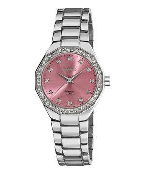 Pink & Silver Diamond Watch by August Steiner #zulily #zulilyfinds