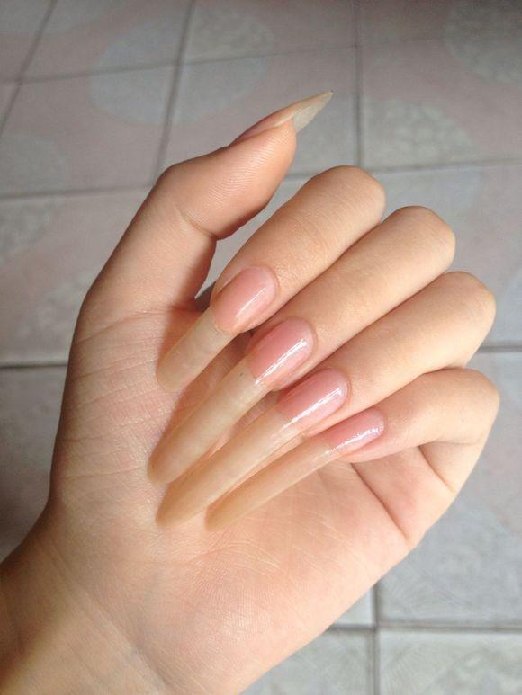 Pin By Lenora Burke On Tumblr Natural Nails Curved Nails Long Natural Nails
