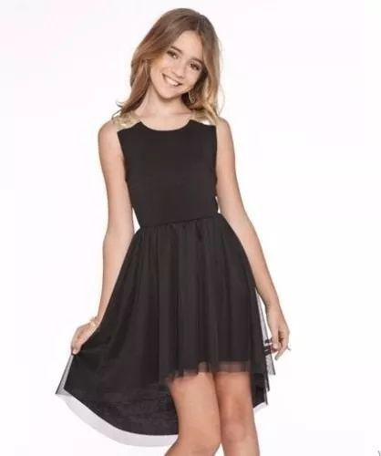 af3184017 Mezuniyet Elbise Modelleri Siyah Kısa Kolsuz Simetrik Kesim Tül Etek  Vestidos De Fiesta Para Adolescentes