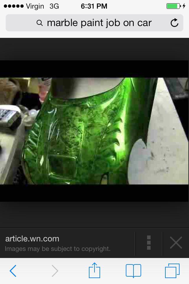 Green Marble Paint Car Paint Jobs Marble Painting Paint Job