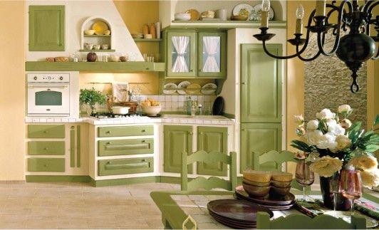 Cucine Rustiche Verdi | New house kitchen | Pinterest ...