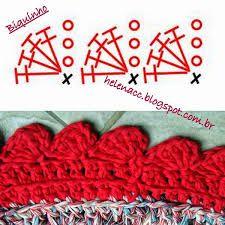 Resultado de imagem para graficos de bicos para tapete de croche redondo